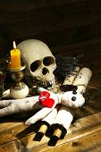 foto of voodoo  - Conceptual photo of love magic - JPG