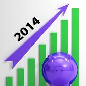 Graph 2014 Means Growing Sales And Earnings