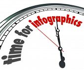 Time for Infographics Words 3d Clock Presenting Information