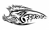 picture of wild hog  - Wild boar for offroad emblem or mascot - JPG