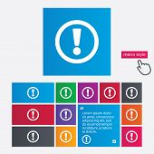 image of hazard symbol  - Attention sign icon - JPG