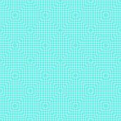 White Line Squares Seamless Pattern on blue
