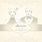Classical wedding invitation card