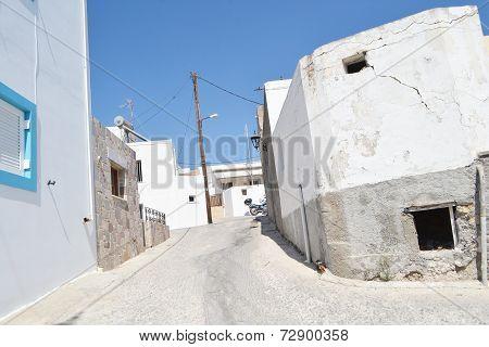 Street In Old Part Of Kefalos