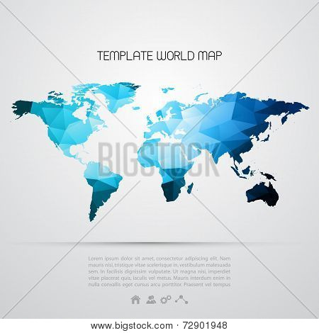 Abstract Background With Vector World Map