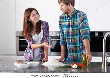 Couple Before Making Pizza