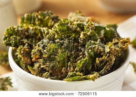 Homemade Green Kale Chips