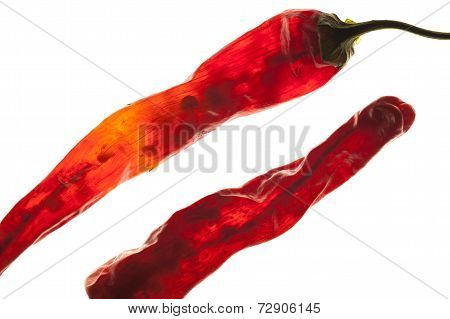 Close Up Of Red Peppers.