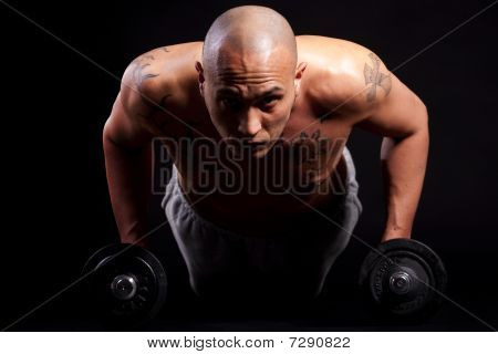Young Man Working Out