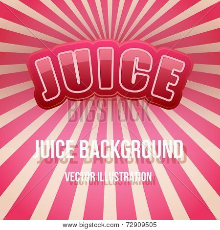 Background of Label for berry juice. Bright premium design. Vector Illustration.