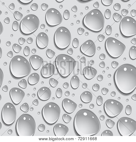Seamless Background. Drops Of Water. Vector