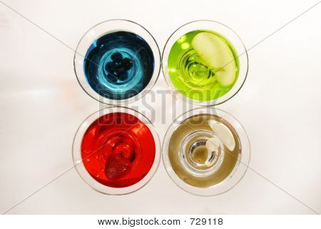Variety Of Martinis