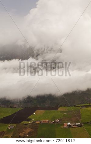Tungurahua Volcano, Powerful Explosion, Aerial View, South America