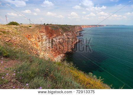 Bulgaria, Black Sea Coast. Coastal Landscape, Kaliakra Headland