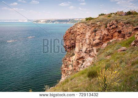 Bulgaria, Black Sea. Coastal Landscape Of Kaliakra Headland