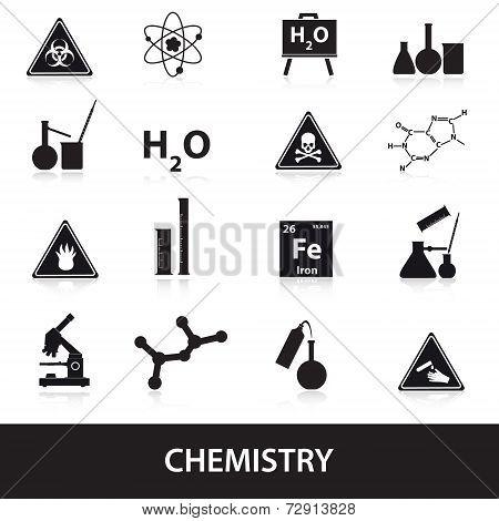 Chemistry Icons Set Eps10