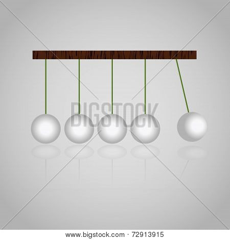 Physics Mechanics Kinetics Balls Set Eps10
