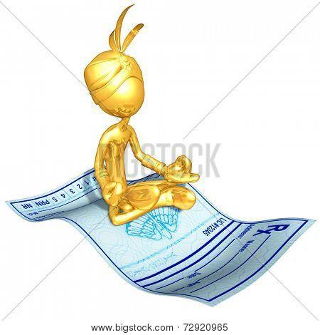Gold Guy Djinn On Magic Carpet Medical Prescription