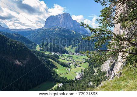 Italian Alps In Val Gardena, Selva In Val Gardena