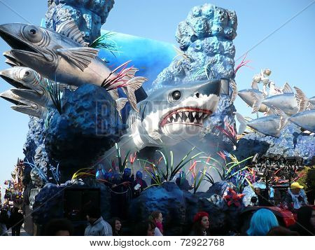 Viareggio, Italy - CIRCA FEBRUARY 2011 - Big floats from The Carnival of Viareggio, the biggest carn