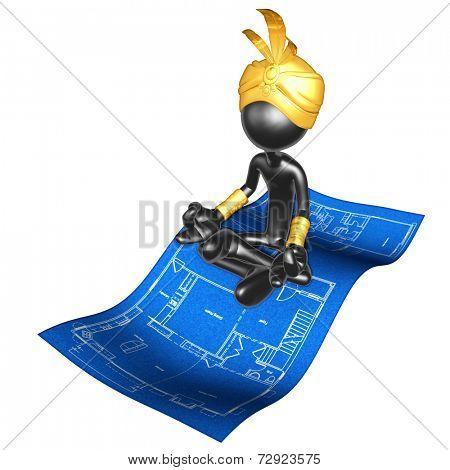 Djinn On Home Construction Blueprint Magic Carpet