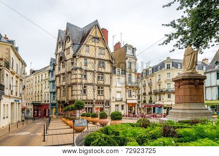 Timbered Adams House In Angers