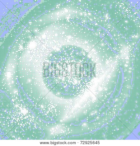 Abstract shining concentric mosaic vector background