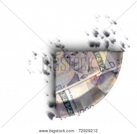 Slice Of Norwegian Kronor Money Pie
