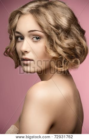 Curly Woman With Bob Hair-cut