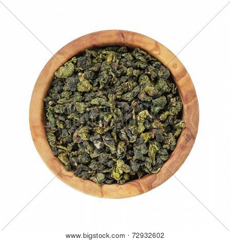 Oolong Green Tea Heap In Bowl