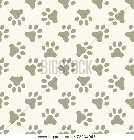 Cat or dog paw seamless pattern