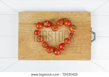 Love Heart Food Tomato