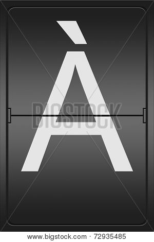 Letter A On A Mechanical Leter Indicator