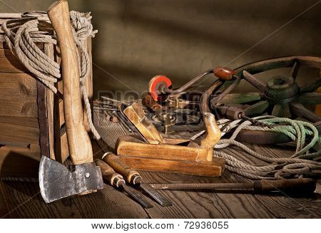 Still Life With Old Tools