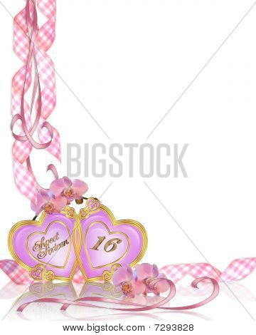 Sweet 16 invitation border