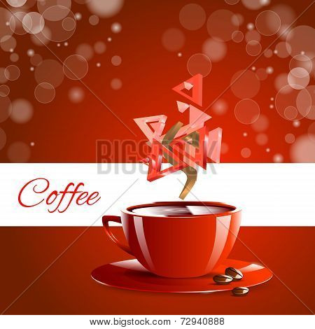 Espresso coffe red coffee