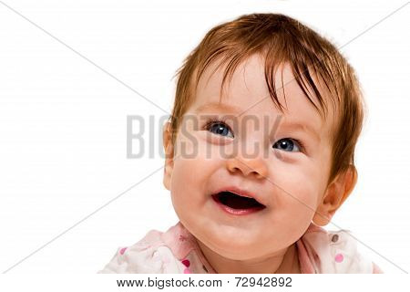Face of a smiling baby