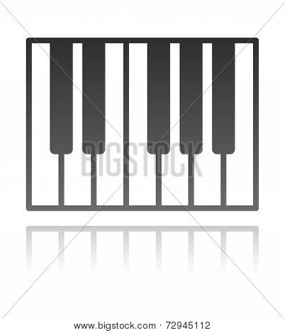 Vector Illustration Of A Piano Keyboard. Music Concept