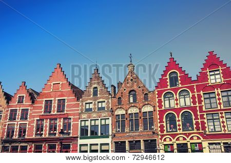 Bruges old buildings