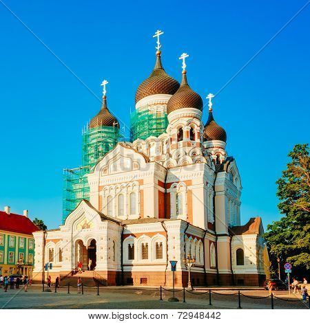 Alexander Nevsky Cathedral, An Orthodox Cathedral Church In Tallinn Old Town, Estonia.
