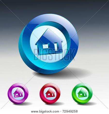 Real Estate Concept. Small House - Vector Icon