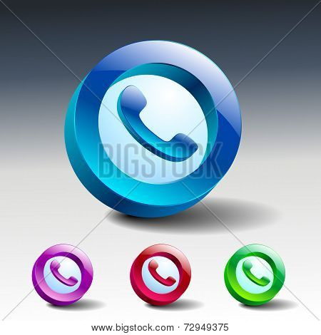 Glass Icons Green Talking Telephone Phone