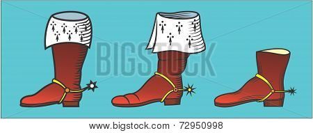 masculine ancient knee-boots