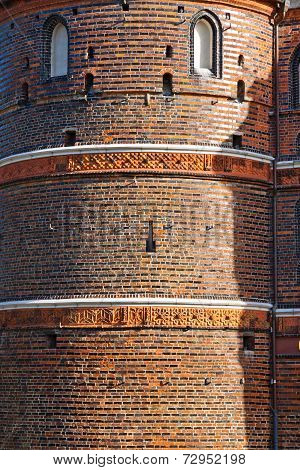 Details Of Holsten Gate In Lubeck Old Town, Germany