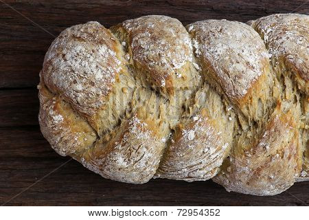 Freshly Baked Sunflower Seed Three Strand Bread Plait