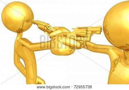 Gold Guy Gun Duel