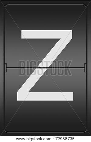 Letter Z On A Mechanical Leter Indicator