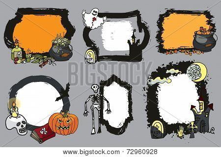 Halloween spooky lebel set.Design template