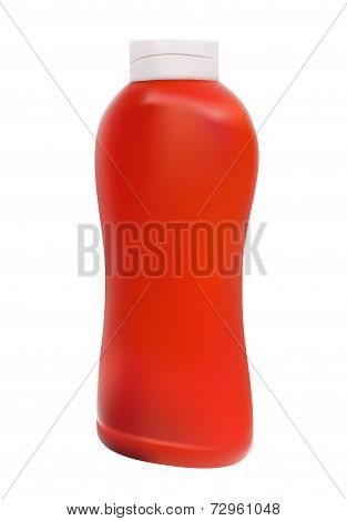Ketchup, Tomato Sauce on White Background Vector Illustration. EPS10