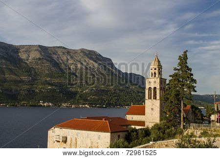Church And Monastery Sveti Nikola In Korcula, Croatia